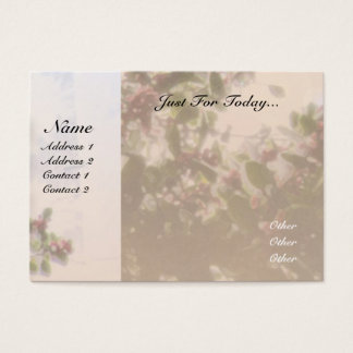 Serenity Prayer Holly Business Card