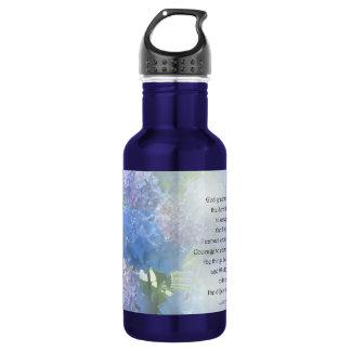 Serenity Prayer Hydrangeas 532 Ml Water Bottle