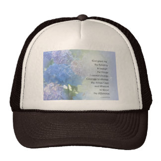Serenity Prayer Hydrangeas Cap