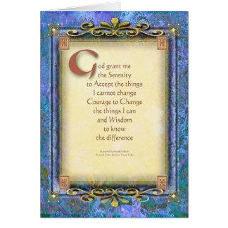Serenity Prayer Illuminated 3 Greeting Card
