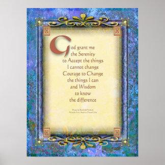 Serenity Prayer Illuminated 3 Poster