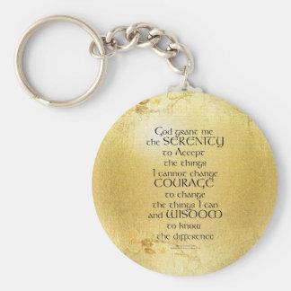 Serenity Prayer Kelt on Yellow Key Ring