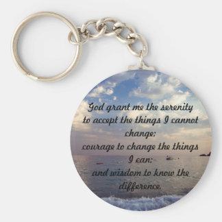 Serenity Prayer Key Ring