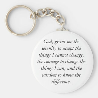 Serenity Prayer Keychain, simple & clean. Key Ring