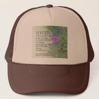 Serenity Prayer Late Summer Garden Trucker Hat