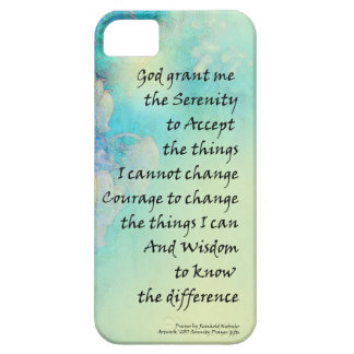 Serenity Prayer Manzanita Case For The iPhone 5