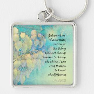 Serenity Prayer Manzanita Key Ring
