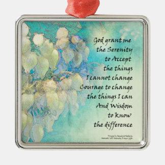 Serenity Prayer Manzanita Metal Ornament