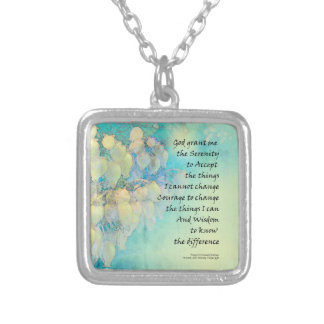 Serenity Prayer Manzanita Silver Plated Necklace