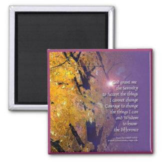 Serenity Prayer Maple Magnet