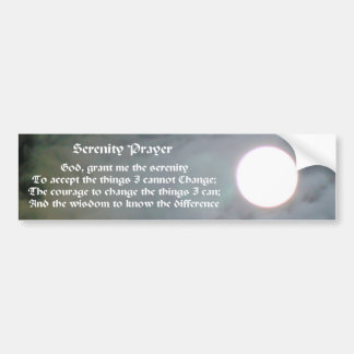 Serenity Prayer Moon Inspirational Bumper Sticker