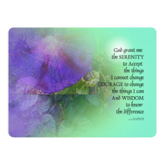 Serenity Prayer Morning Glory Collage Card