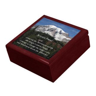 Serenity Prayer Mount Rainier Photo Gift Box