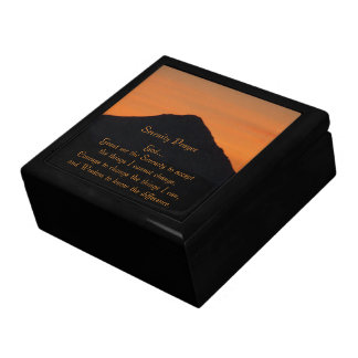 Serenity Prayer Mountain Sunset Photo Gift Box