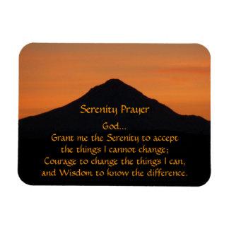 Serenity Prayer Mountain Sunset Photo Magnet