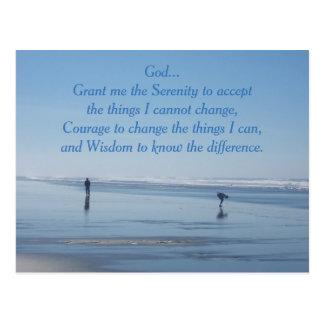 Serenity Prayer Ocean Beach Postcard