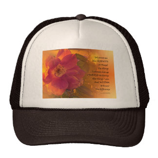 Serenity Prayer Orange Pink Rose Cap