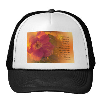 Serenity Prayer Orange Pink Rose Cap