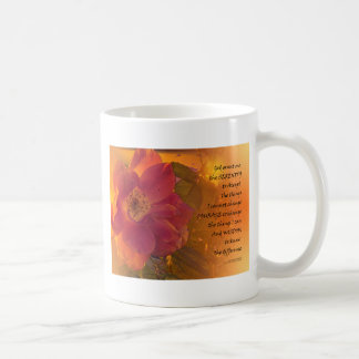Serenity Prayer Orange Pink Rose Coffee Mug