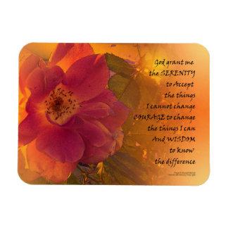 Serenity Prayer Orange Pink Rose Magnet