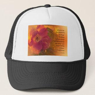 Serenity Prayer Orange Pink Rose Trucker Hat