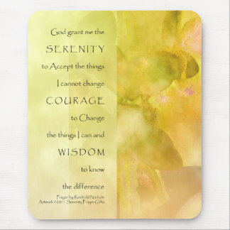 Serenity Prayer Orchids Yellow Green Mouse Pad