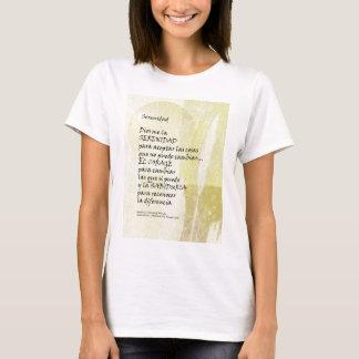 Serenity Prayer Pampas in Spanish T-Shirt