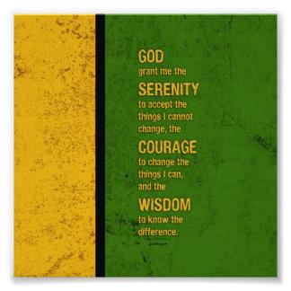 Serenity Prayer: Patriotic Jamaica, Strength/Recov Photo Print