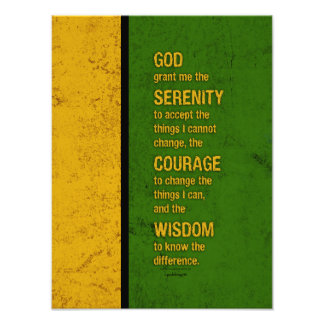 Serenity Prayer: Patriotic Jamaica, Strength/Recov Photographic Print