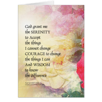 Serenity Prayer Peonies and Roses Card
