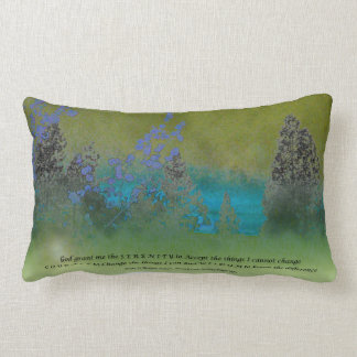 Serenity Prayer Petals and Trees American MoJo Pil Lumbar Pillow
