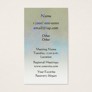 Serenity Prayer Petals and Trees Business Card
