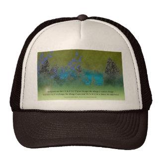 Serenity Prayer Petals and Trees Cap