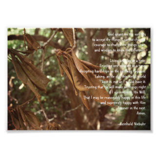Serenity Prayer Photo Print