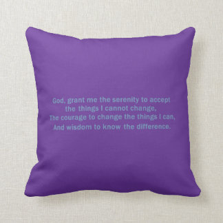 Serenity Prayer Pillow
