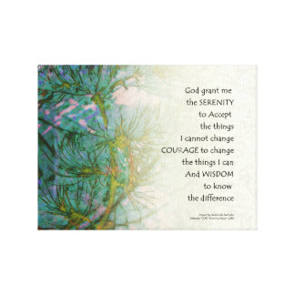 Serenity Prayer Pine Branches Canvas Print