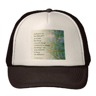 Serenity Prayer Pine Branches Cap