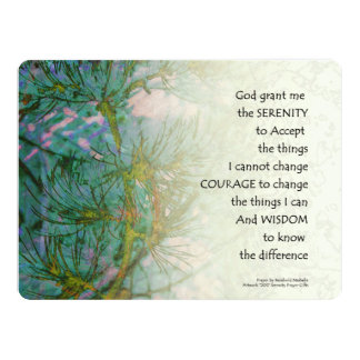 Serenity Prayer Pine Branches Card
