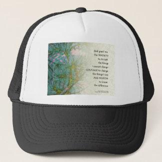 Serenity Prayer Pine Branches Trucker Hat