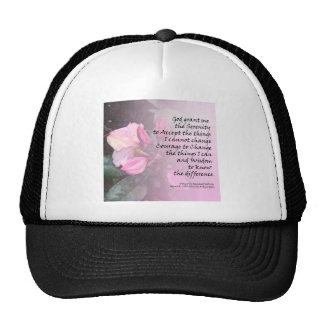 Serenity Prayer Pink Rhodies Cap