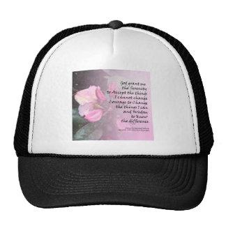 Serenity Prayer Pink Rhodies Cap