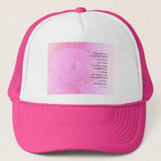 Serenity Prayer Pink Rose Blend Cap