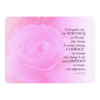 Serenity Prayer Pink Rose Blend Card