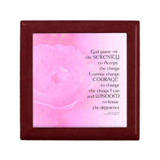 Serenity Prayer Pink Rose Blend Gift Box
