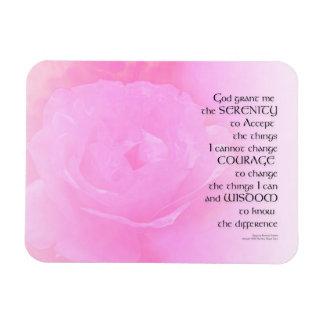 Serenity Prayer Pink Rose Blend Magnet