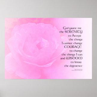 Serenity Prayer Pink Rose Blend Poster