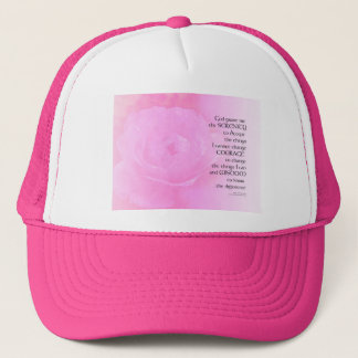 Serenity Prayer Pink Rose Blend Trucker Hat