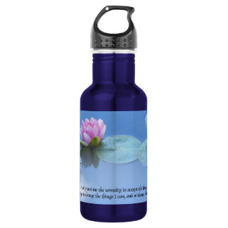 Serenity Prayer Pink Water Lily 532 Ml Water Bottle