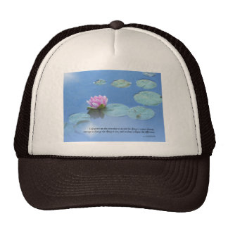 Serenity Prayer Pink Water Lily Cap