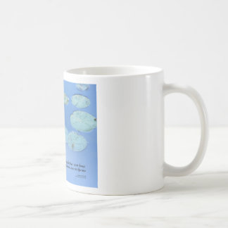Serenity Prayer Pink Water Lily Coffee Mug